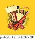 vector, accordion, retro 40977281