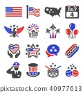 independence day icon 40977613