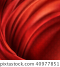 Vector 3d realistic flowing red fabric background 40977851
