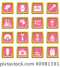 birthday, icon, set 40981391