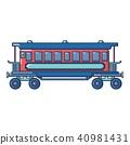 retro, passenger, icon 40981431