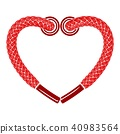 heart, shoelaces, icon 40983564