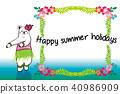 夏季賀卡 熊 北極熊 40986909