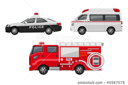 警车,救护车,消防车,集 40987078