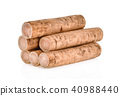 Burdock roots isolated white background. 40988440