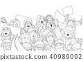 人群 抗议 插图 40989092