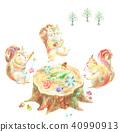 숲의 생일 파티 다람쥐 40990913
