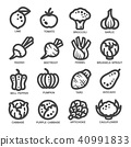 vegetable thin line icon 40991833