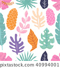 Vector seamless pattern with tropical  leaves. 40994001