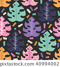 Vector seamless pattern with tropical  leaves. 40994002
