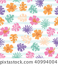 Vector seamless pattern with tropical  leaves. 40994004