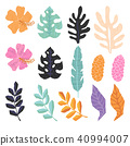 Vector seamless pattern with tropical  leaves. 40994007