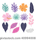 Vector seamless pattern with tropical  leaves. 40994008