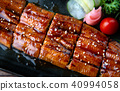 Cut grilled Japanese eel. 40994058