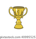 trophy, illustration, isolated 40995525