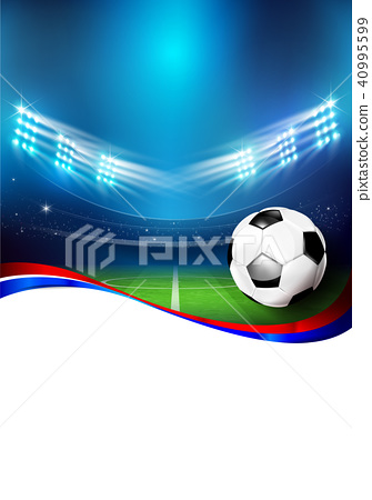 Soccer field with stadium 005 40995599