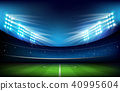Soccer field with stadium 001 40995604