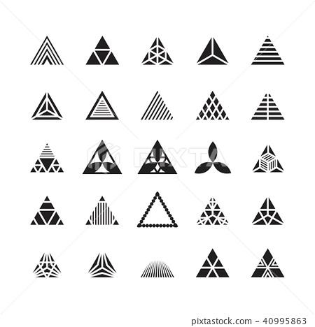 triangle geometric vector icon , ornament - Stock
