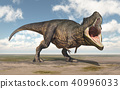 Dinosaur Tyrannosaurus Rex in a landscape 40996033