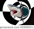 Great white shark in a futuristic environment 40996051