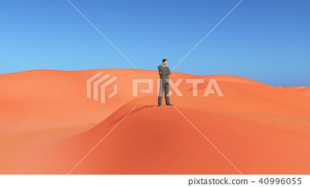Businessman in the desert 40996055