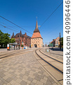Historical buildings in the city Rostock, Germany 40996446