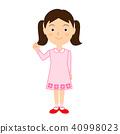 소녀의 일러스트 소재 40998023