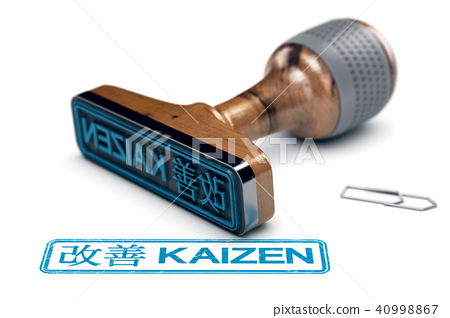 Kaizen Word Over White, Continuous Improvement 40998867