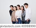 친구,동료,남자,여자,한국인 40998990