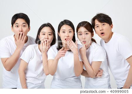 친구,동료,남자,여자,한국인 40999005