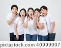 친구,동료,남자,여자,한국인 40999007