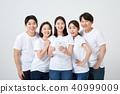 친구,동료,남자,여자,한국인 40999009