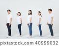 친구,동료,남자,여자,한국인 40999032