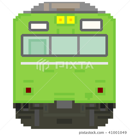 Dot picture style commuter train (103 series high driving cabin ATC · yellow green) 41001049