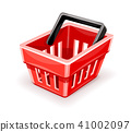 Red empty shopping basket icon 41002097
