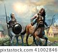 Centaur scene 3D illustration  41002846