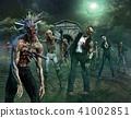 Zombie Scene 3D illustration 41002851