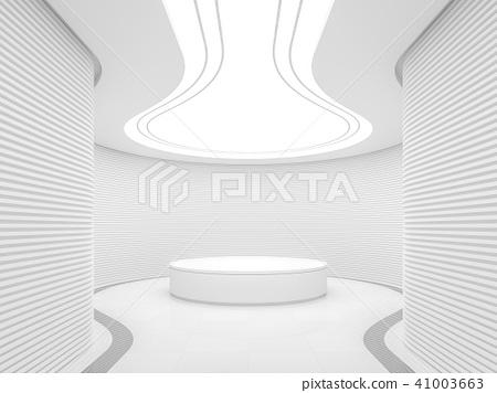 Empty white room modern space interior 3d render 41003663
