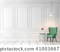 Modern classic living room 3d render 41003667