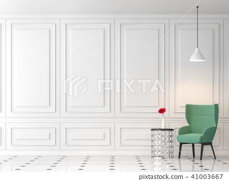Modern classic living room 3d render 41003667