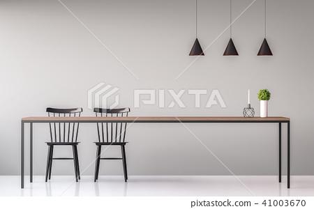 Modern dining room minimal image style 3d render 41003670