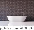 Modern luxury bathroom  3d render 41003692