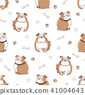 dog, pattern, seamless 41004643
