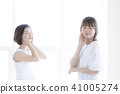 Female beauty skin care 2 people 41005274