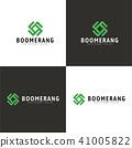 Boomerang Logo,  Different Colors, Vector 41005822