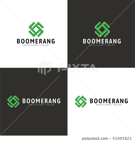 Boomerang Logo,  Different Colors, Vector 41005822