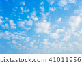 blue sky background texture with white clouds. 41011956