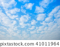 blue sky background texture with white clouds. 41011964