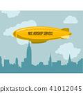 Dirigible over city - zeppelin  41012045