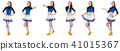 Cheerleader isolated on the white background 41015367